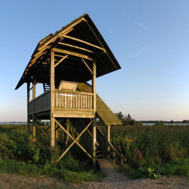 Vogelkijkhut in de Onnerpolder bij het Zuidlaardermeer
