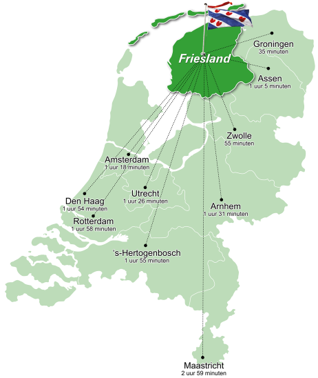 Friesland map